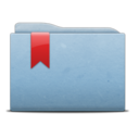 Folder Blue Ribbon icon
