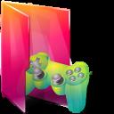 Aurora, Folders, Games, texto, Saved icon