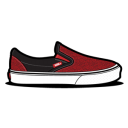 Vans Curls Red icon