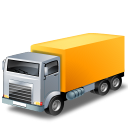 yellow, truck, transport, lorry, transportation, vehicle icon
