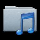 music, folder, graphite icon