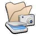 scanners, folder, &, cameras, beige icon