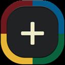 Flat, Google, Plus, Round icon