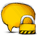 Comment, Locked icon