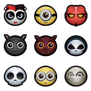 Halloween Avatars icon sets preview