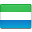 leone, country, sierra, flag icon