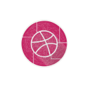 dribbble, internet, social, ball, web, network icon