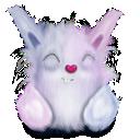 cute, pink, rabbit, animal icon