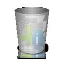 can, binfull, trash icon