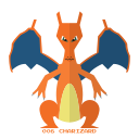 charizard, fire, kanto, pokemon icon