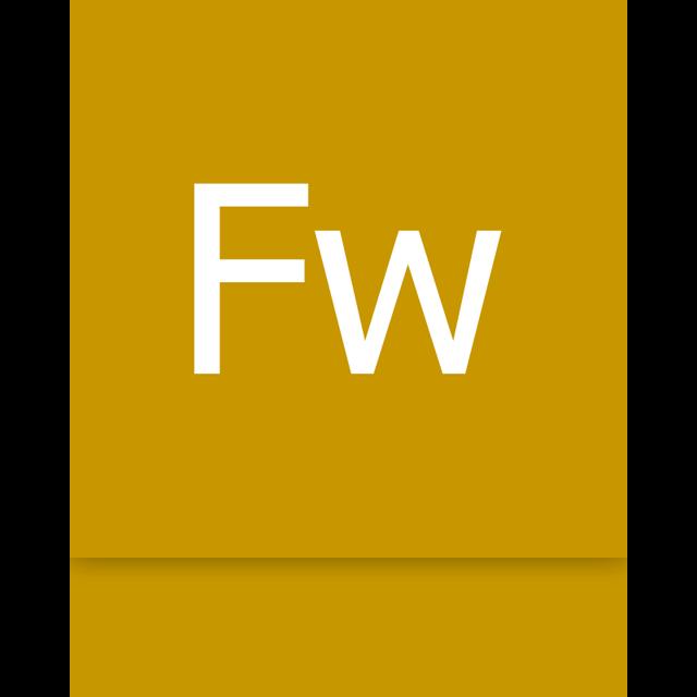 adobe, mirror, firework icon