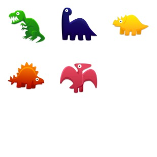 Dinosaurs Toys icon sets preview