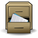 cabinet, office, message collection, file, drawer icon