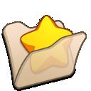 folder, beige, favourite icon