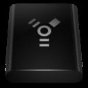 black,drive,firewire icon