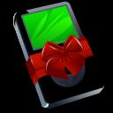 gift, xmas, present, christmas, ipod, mp3 player, black icon