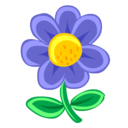 blue,flower,plant icon