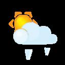 sun lightcloud grain icon