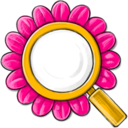 search,flower icon