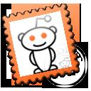 stamp, reddit icon