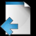 document arrow left icon