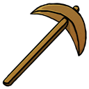 Pickaxe, Wooden icon