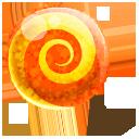 lollipop, candy, orange icon