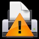 printer, error, print, wrong, exclamation, warning, alert, gtk icon