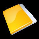 Close, Folder, Yellow icon