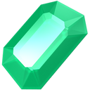 emerald, precious, gemstone, green, gem, stone, jewel icon