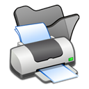 Black, Folder, Printer icon