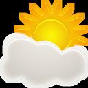 period, sunny icon