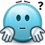 shrug, emot, don't know, smiley, shrugging, confused, smiley face icon