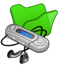 folder, mymusic, green icon