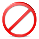 stop, restricted, exit icon