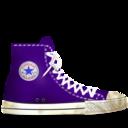 converse,lila,dirty icon