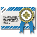 Certificate, Mail, Safe icon