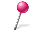 Map Marker Ball Right Pink icon