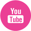 youtube, media, pink, round, social icon