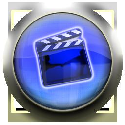 blue, video, movie, film icon