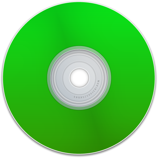 disc, dvd, blank, cd, empty, disk, green, save icon