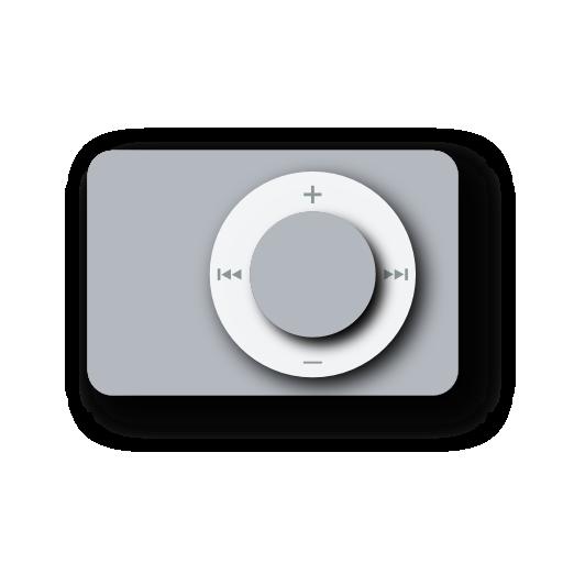 ipod, shuffle, white icon
