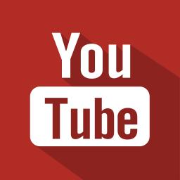 shadow, youtube, set, social, media, flat icon