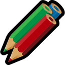color, drawing, pencils, artwork, write icon