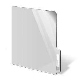white, closed, folder icon
