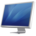 monitor, diagonal, display, computer, cinema, blue, screen icon