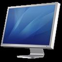 monitor, diagonal, display, computer, cinema, blue, screen icon