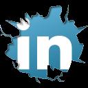 linkedin, inside icon