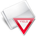 Folder Sign Yield icon