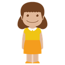 yellow, child, person, female, kid, avatar, girl icon